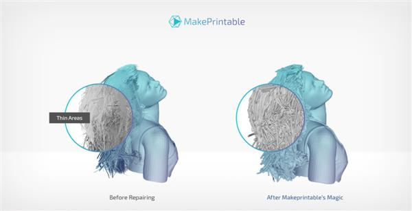 Cloud Fixing of 3D Printing STL and 3MF files with MakePrintable